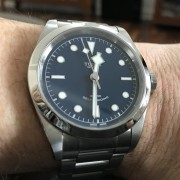 Just purchased a Tudor Black Bay Blue 41mm, love the minimalist design but runs -5 seconds slow