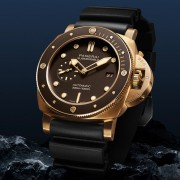 Introducing the Panerai Submersible Bronzo with brown dial & bezel PAM968