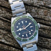 Wearing it right now – Tudor Green Harrods Black Bay 79230G