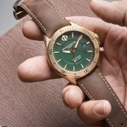 Introducing the Baume & Mercier Clifton Club Green Bronze