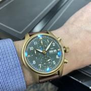 Live shots of the IWC Pilot's Chronograph Spitfire bronze