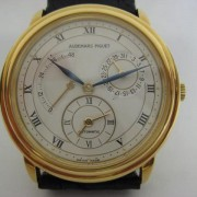 The way watches used to be made – Jules Audemars Dual Time Power Reserve in yellow gold, ref. 25685