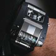 Introducing the URWERK UR-111C Two-Tone in black PVD & brushed steel