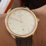 Hermes Arceau rose gold – what a stunner and what an understated brand