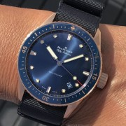 Hands-on with the new Blancpain Bathyscaphe Sedna gold Blue