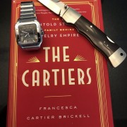 """Survival kit for the week – Cartier Santos, Bill King custom & """"The Cartiers"""" book"""